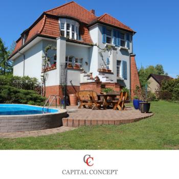 * Fabrikantenvilla in Luckenwalde * 1.643 m² Grundstück mit Pool und Remise